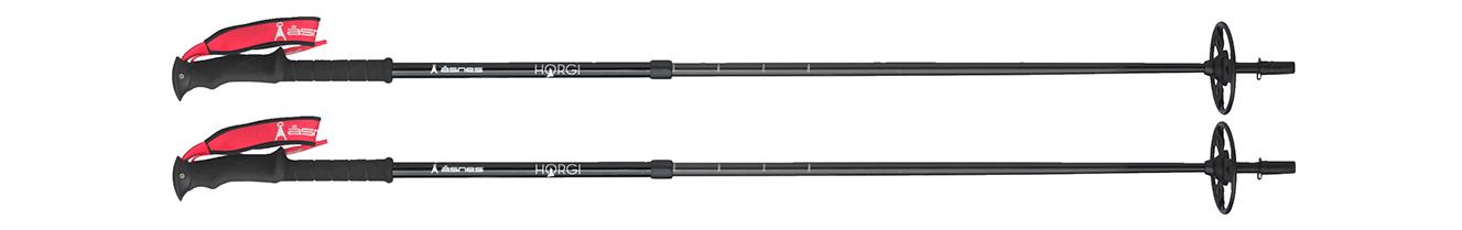 Åsnes Horgi 2-delt alu/carbon teleskopstaver
