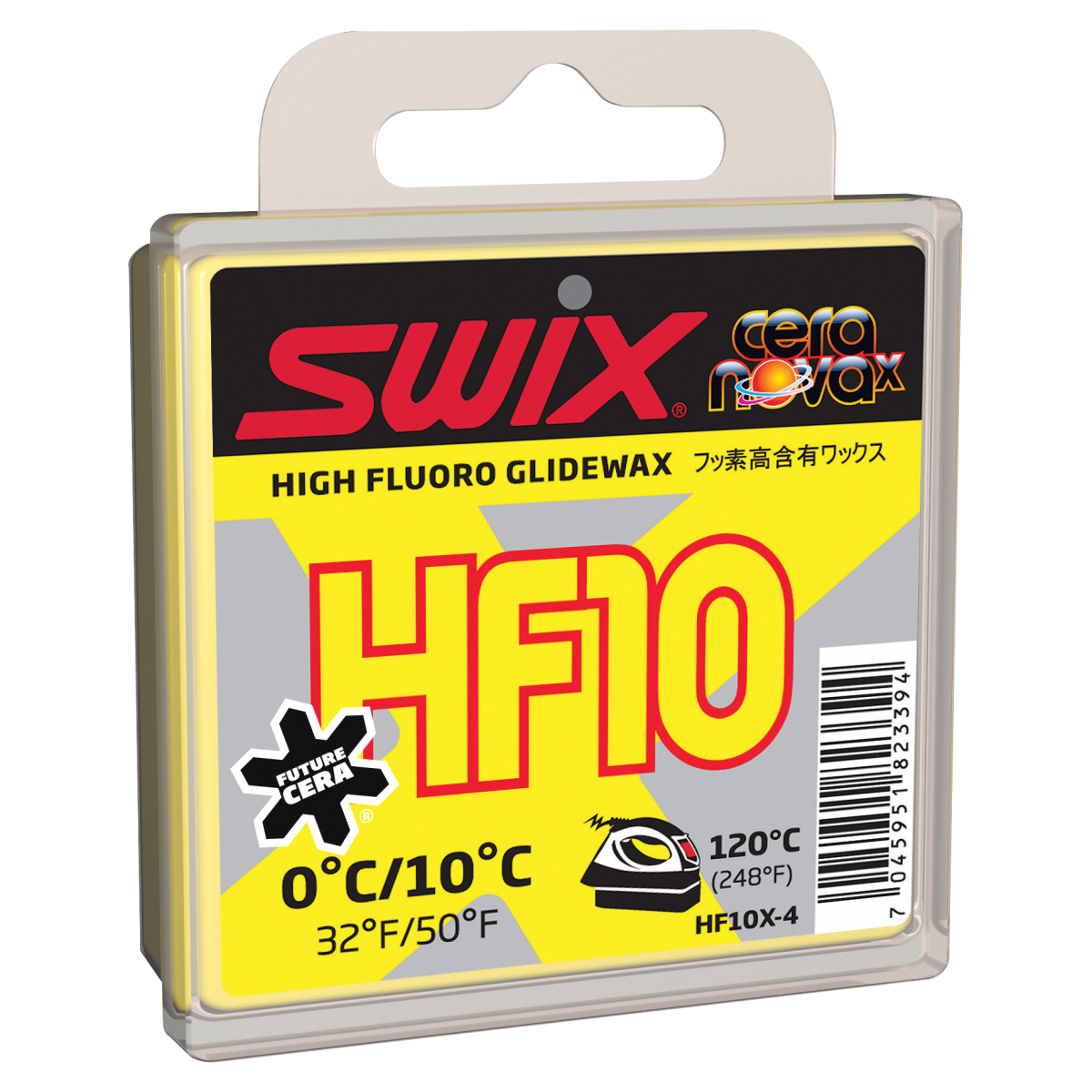 Swix Cera F HF10 gul høyfluorvoks  +10 - 0 C